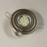 Premium Flu-Mnt 12 Warm White LED Light-Brushed Nickel SKU161