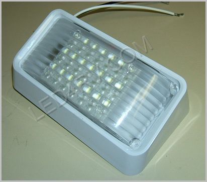 Patio LED Light 6 by 3.25 inch Bright White in White SKU255