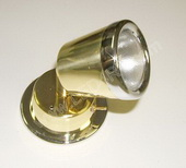 10 Watt Halogen Reading Light- Brass w/Chrome Tappered SKU287