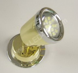 Bright white LED Reading Light Brass Chrome Tappered SKU288