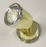 Warm white LED Reading Light Brass with Chrome tappered SKU289
