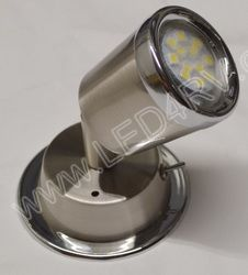 Bright W LED Reading Light Brushed Nickel with Chrome SKU898