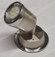 Warm W LED Reading Light Brushed Nickel with Chrome SKU896