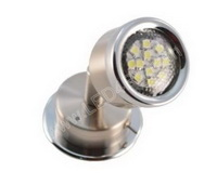Bright white LED Reading Light Brushed Nickel Chrome Trim SKU302