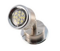Warm white LED Reading Light Brushed Nickel Chrome Trim sku303