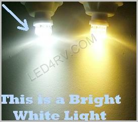 Bright White T10 wedge 9 LED light T10BW9Spot SKU2281 - Click Image to Close