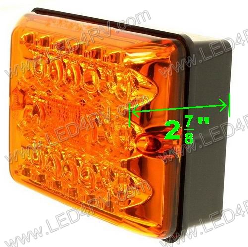 Amber Turn Signal LED upgrade for 86 Series Black Base SKU1835