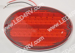 LED Oval Stop Tail and Turn Black base with 52 LEDs SKU1802
