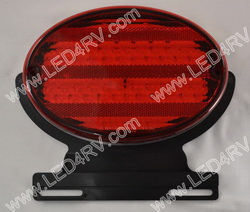 LED Oval STandT Black base with 52 LEDs and Bracket SKU1803