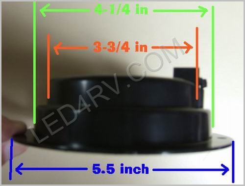 4 inch 61 LED S-T-T with Black Plastic Flange LED40FR61B SKU427