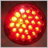 40 Series 4in. Round Red LED Stop-Turn-Tail Lamp LED40R24