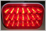 Rectangle Red Stop-Tail-Turn 21 LEDs LED452R SKU416