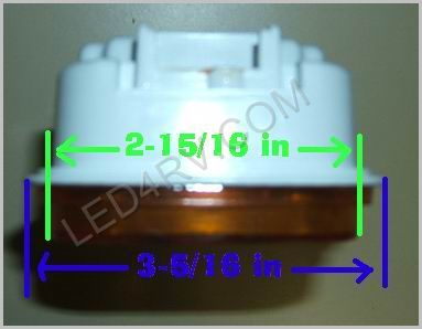 Rectangle Amber Stop-Tail-Turn 21 LED LED452Y SKU417