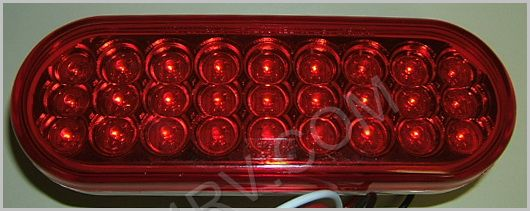 6 in STT Red LED Light LED627R SKU420