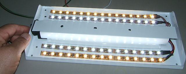 2 stage W n B White LED kit- 4 strips for 12in Light. SKU216