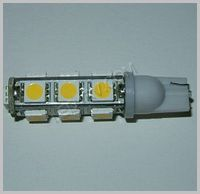 Warm White 13 LED T10 socket T10-13WW SKU323