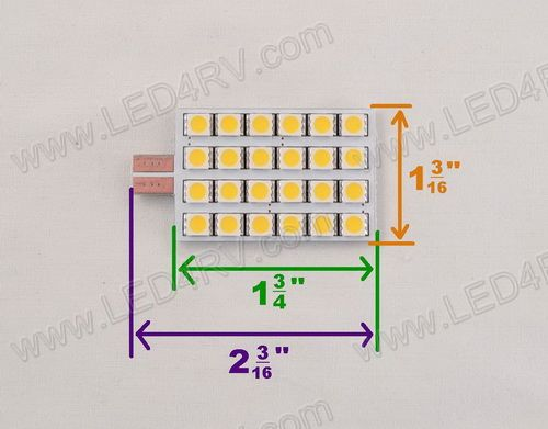 T-10 Replacement Plate Light with 24 Warm White LEDs SKU1309